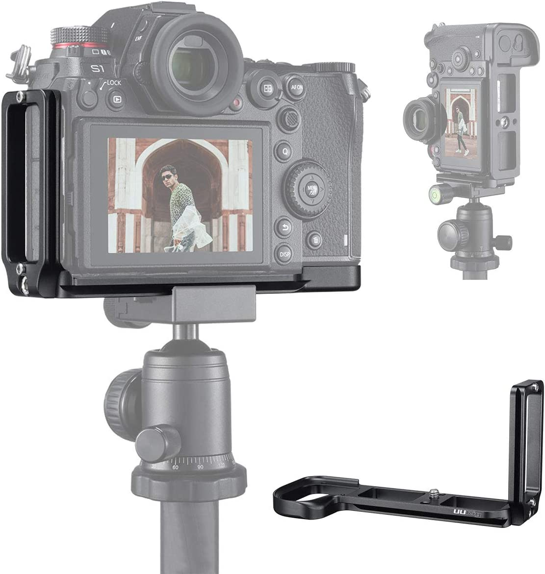 Video Shooting Tripod Mount Plate UURig R026 S1 S1R Camera Bracket for Panasonic S1 S1R Camera Arca-Swiss Quick Release