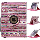 iPad Air 2 Case - E LV iPad Air 2 Case Cover SHOCK ABSORPTION (ROTATING STAND) PU LEATHER Case Cover for iPad Air 2 - [TRIBAL]