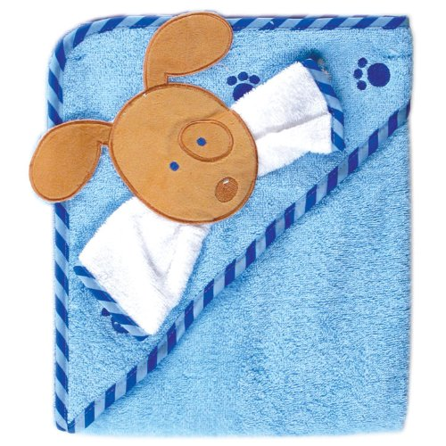 - Luvable Friends Fancy Hooded Bath Wrap, Blue