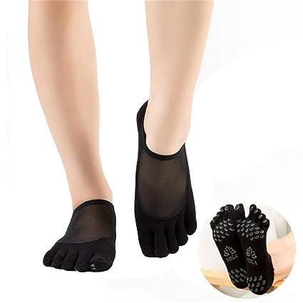 SANIQUEEN.G 2 Pares Calcetines de Dedos Separados para Yoga ...