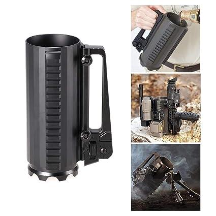 Tactical Military Multifunction Aluminum Carry Battle Rail Mug Cup Detachable