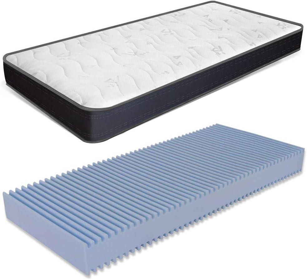 MiaSuite - Colchón ortopédico Summit de una plaza - Fabricado en espuma de poliuretano expandido WaterFoam - Transpirable - Alto 13 cm - Medidas 90 x 190 cm