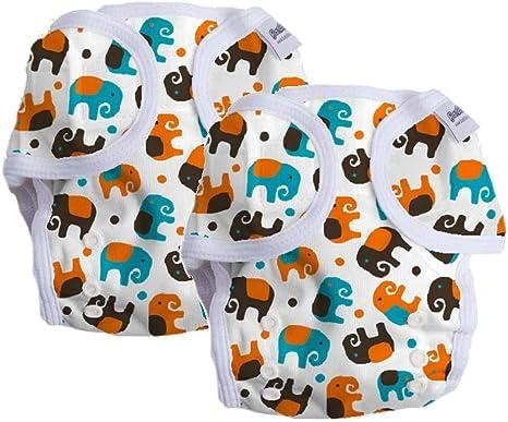 Bambinex Pack de ahorro de 2 unidades * OneSize Wrap – Cubrepañales para pañales de tela – para