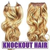 Knockout Hair 20-Inch Fiber Wavy Hair Extensions, 150 Grams,  #27HR/86 - Light Strawberry Blonde/Light Blonde Mix