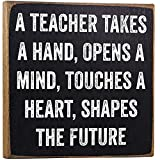 Teacher Takes a Hand Wooden Sign Review and Comparison