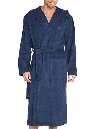 Ralph Lauren Underwear - Dressing Gowns - Men - Navy Blue Hooded Bathrobe  for men - L f1e1a245e