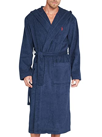Ralph Lauren Underwear - Dressing Gowns - Men - Navy Blue Hooded ...