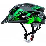 Capacete Ciclismo Tsw Raptor 2 Com Led Preto Verde Mtb Xc
