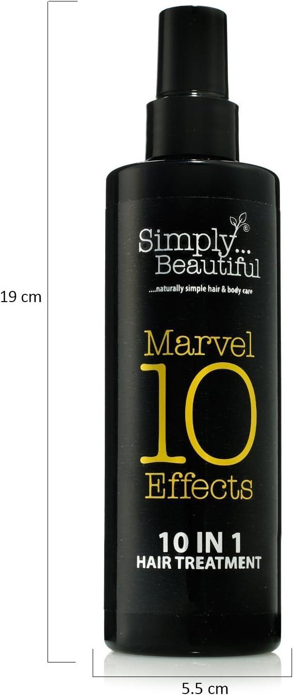 10 in One Tratamiento para el pelo ofrece 10 efectos milagrosos en una botella - Protección térmica, acondiciona en profundidad, repara el cabello ...