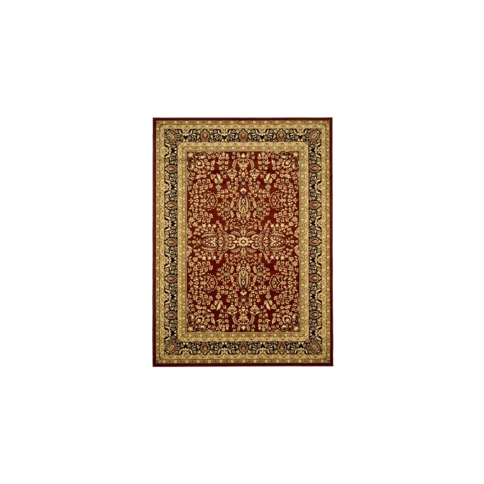 Safavieh Lyndhurst Collection LNH214A Area Rug, 4 Feet by 6 Feet, Red and Black