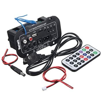Amplificador Bluetooth para coche HiFi Bass Power AMP USB TF estéreo Amplificador digital