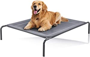 Love's cabin Outdoor Elevated Dog Bed - 43/49in Cooling Pet Dog Beds for Extra Large Medium Small Dogs - Portable Dog Cot for Camping or Beach, Durable Summer Frame with Breathable Mesh