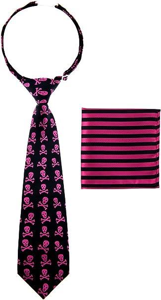 Corbata Canacana, con nudo integrado, diseño de calaveras y ...