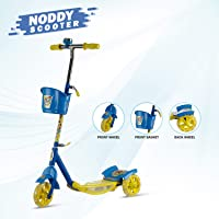DASH 3-Wheel Noddy Scooter for Kids with Bell and Basket (Red)