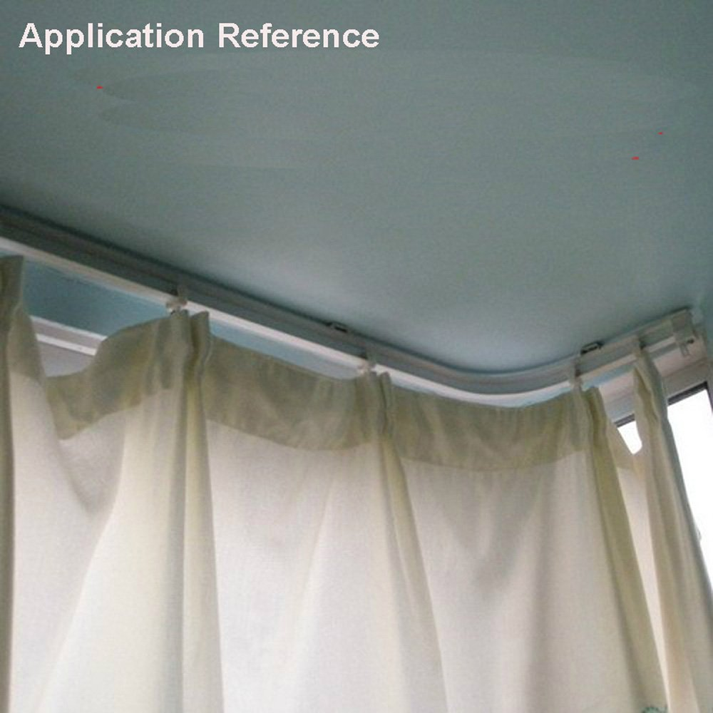 Dealhola Bendable Plastic Metal Alloy Rod Flexible Window Curtain Track Poles Ceiling Mounting 500cm Ceiling Mount