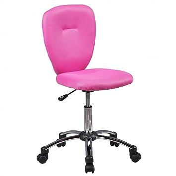 Amstyle ANNA - Silla de escritorio infantil, para niños a partir de 6 años, con respaldo blando y ruedas, giratoria, ergonómica y regulable: Amazon.es: ...