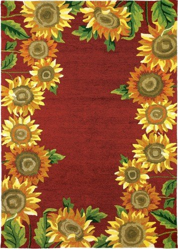 60 in. Sunflower Field Area Rug (Sunflowers Red Area Rug)