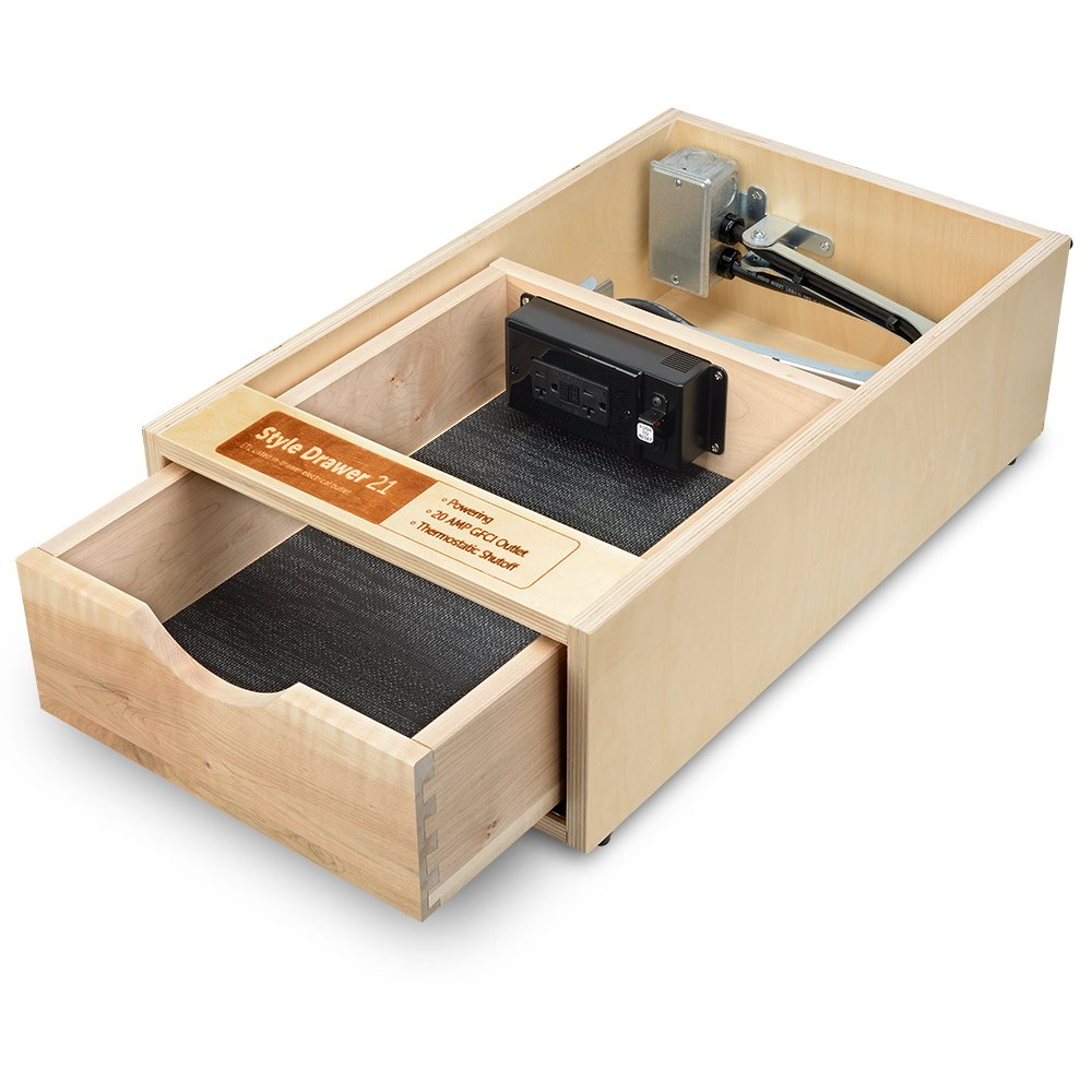 drawers away a tucked charging and outlet ports standard drawer keeps pin our with in technology usb