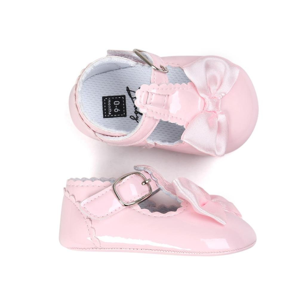 Fossen Bebe Ni/ñas Zapatos de Vestir Reci/én Nacido Primeros Pasos de Suela Blanda con Bowknot Princesa Estilo