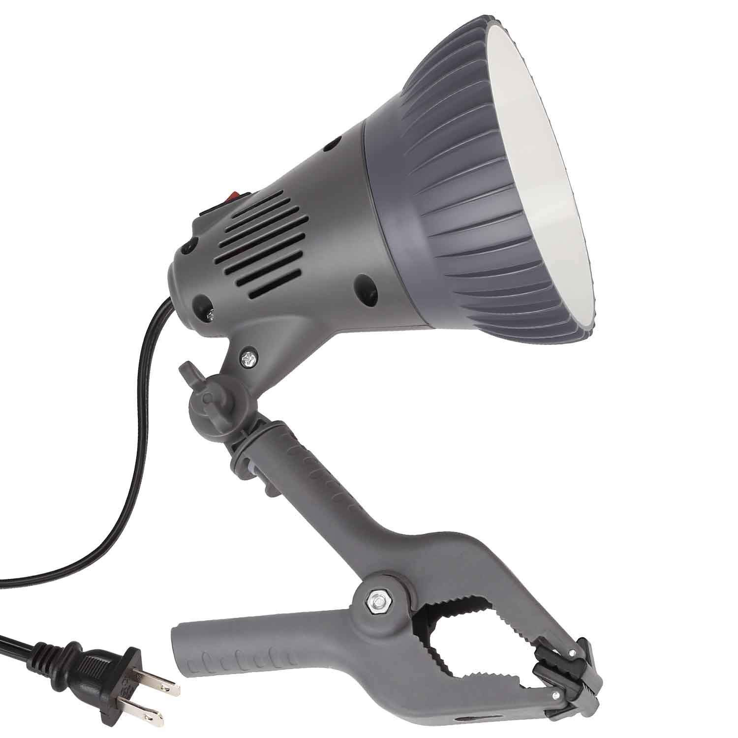 TORCHSTAR ETL-listed 7W LED Clamp Work Lamp, Integrated 360° Rotatable Head, Ultra Bright Work Bench Light, Desk Lamp with Clip, 4000K Cool White, 6ft Plug & Play Cord