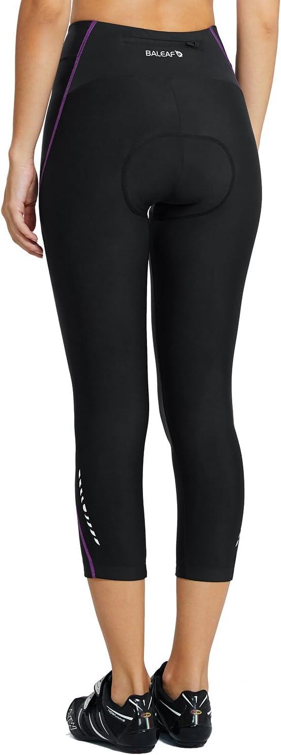 BALEAF Damen 3//4 Fahrradhose Radlerhose Radhose Mit Coolmax 3D Sitzpolster Komfort UPF 50