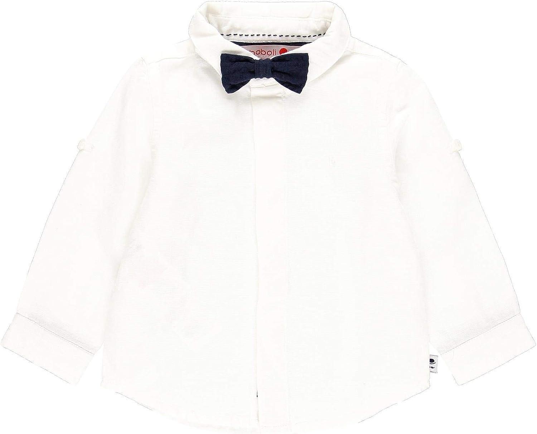 Camisa Lino Manga Larga de bebé niño: Amazon.es: Ropa