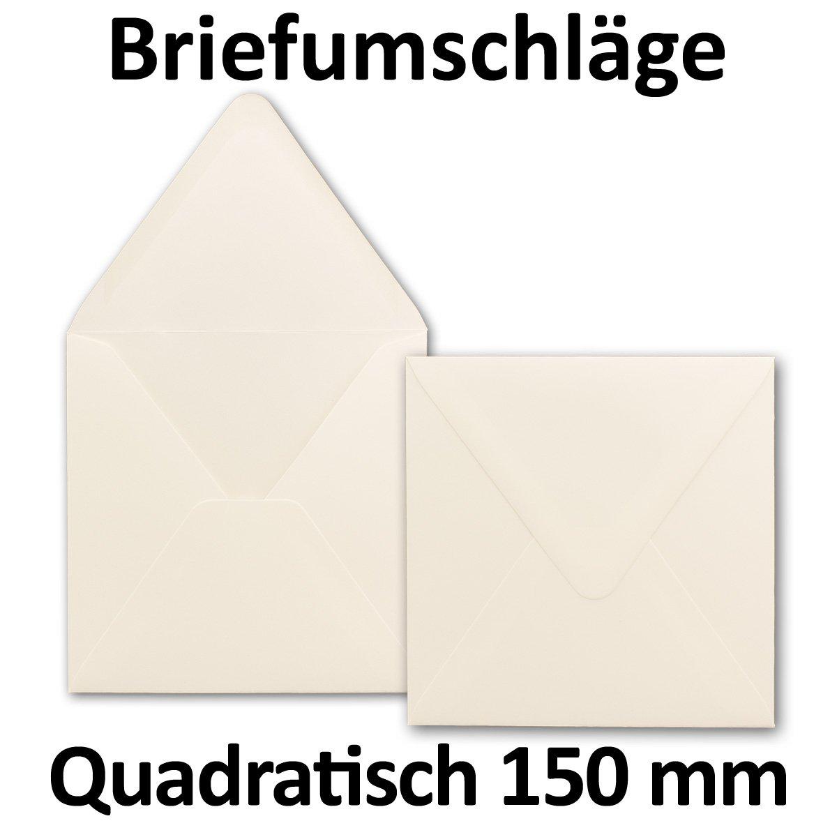 400x 400x 400x quadratische Brief-Umschläge 150 x 150 mm - Creme-Weiß - 120 g m²   Für ganz besondere Anlässe  - Nassklebung - Qualitätsmarke  GUSTAV NEUSER B076CM2LLS   Bevorzugtes Material    Starke Hitze- und Hitzebeständigkeit   b9d7ad