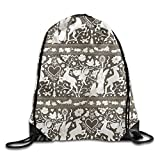 ZQWEOO Antique Lace Print A Backpack Classic Gorgeous Beautiful