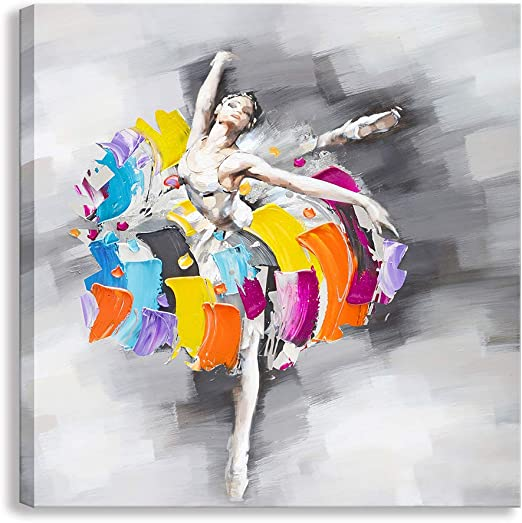 Modern Home Decor Print Abstract oil painting Wall Art on Canvas Ballet Dance