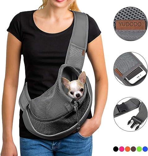 YUDODO-Pet-Dog-Sling-Carrier-Breathable-Mesh-Travel-Safe-Sling-Bag-Carrier-for-Dogs