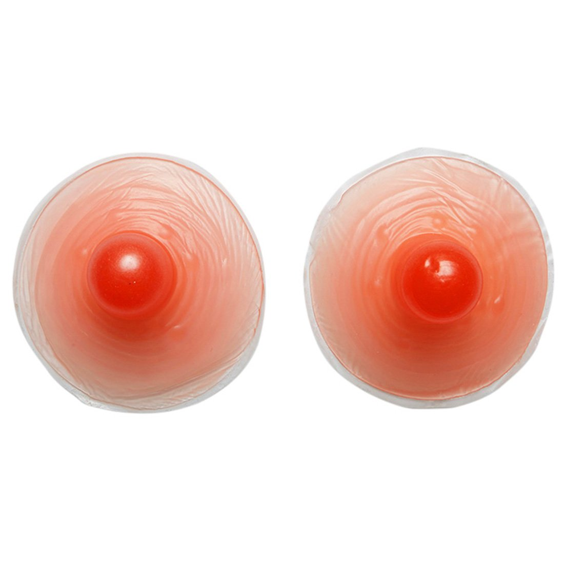 Hengfey Silicone Nipple Breast Covers Forms Natural Attachable (Red, one pair) YV0032/HFCA