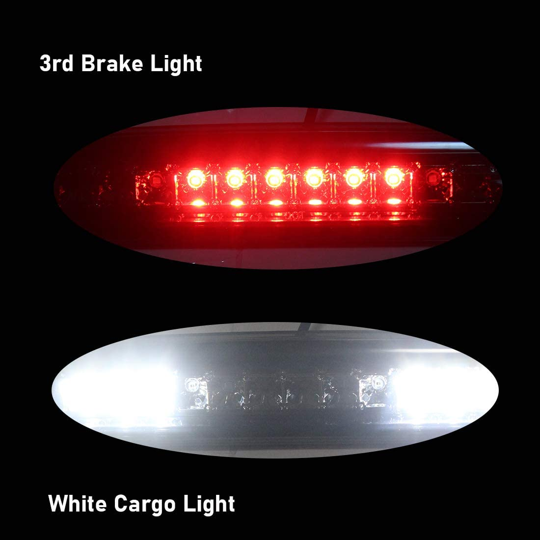 NPAUTO LED Third 3rd Brake Light Cargo Lamp Replacement for 1994-2001 Dodge Ram 1500 2500 3500 High Mount Stop Light Assembly