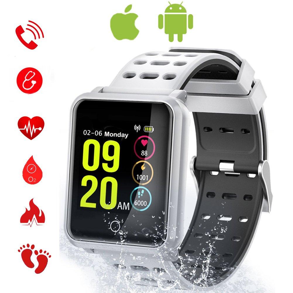 Tagobee TB06 IP68 impermeabile intelligente orologio HD touch screen fitness monitor pressione sanguigna frequenza cardiaca monitoraggio del sonno pedometro donne degli uomini compatibili Samsung Huawei smartphone LG smartphone e iPhone (nero)