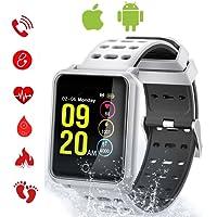 Tagobee TB06 IP68 Reloj Inteligente a Prueba de Agua Monitor de la Aptitud Presión Arterial podómetro Compatible con Android teléfono y iOS(Negro)