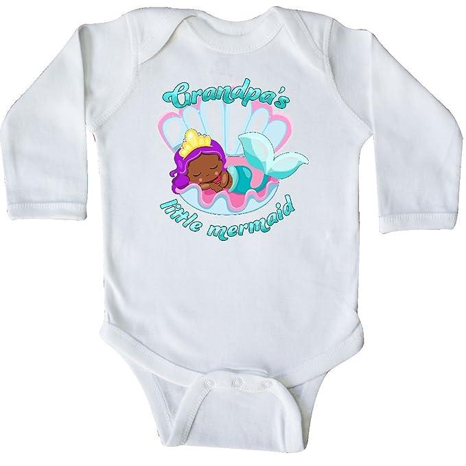 35097ea21323c Amazon.com: inktastic - Grandpa's Little Mermaid Long Sleeve Creeper 2efce:  Clothing