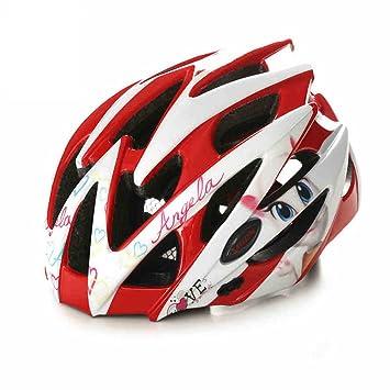 Qarape Casco de dibujos animados de bicicleta con visera desmontable Escudo de protección de la seguridad