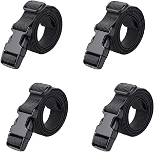 "MAGARROW 78"" x 1"" Strap Buckle Packing Straps Adjustable 1-Inch Belt (Black (4-PCS))"