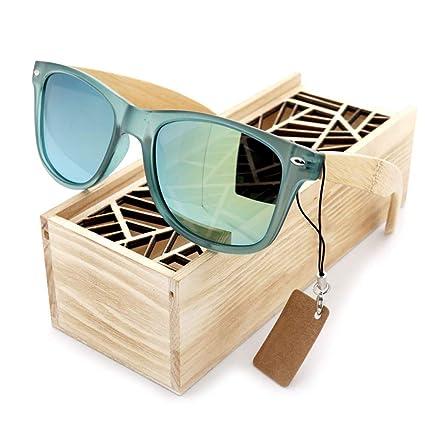 CWPYB Gafas de Sol de Madera de Nogal, protección UV Sombra ...