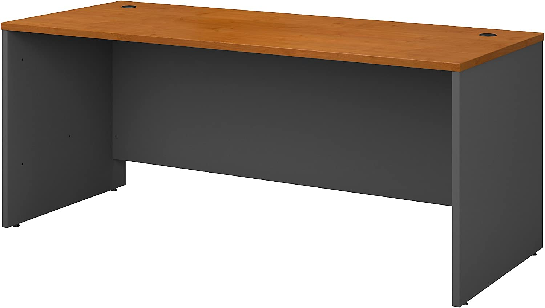 Bush Business Furniture Series C 72W x 30D Office Desk in Natural Cherry