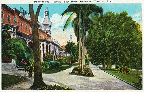 Tampa, Florida - Tampa Bay Hotel Promenade Scene (12x18 Collectible Art Print, Wall Decor Travel - Florida Promenade