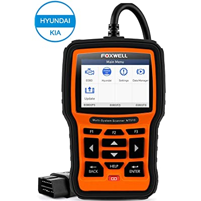FOXWELL NT510elite for Hyundai/Kia Automotive Diagnostic Scanner Full System OBD2 Scanner Bi-Directional Code Scan Tool with ABS Bleeding HVAC TPMS DPF Oil Reset SRS SAS Full Special Functions: Automotive