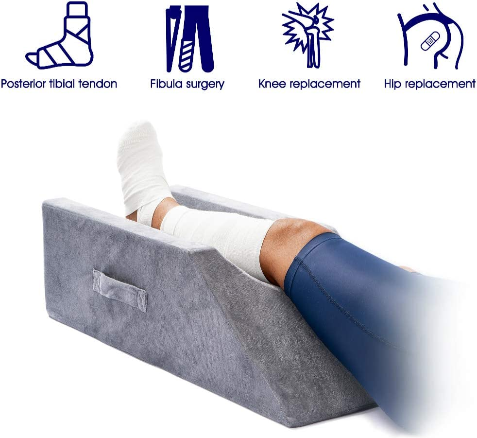 LightEase Memory Foam Leg, Knee, Ankle Support and Elevation Leg Pillow for Surgery