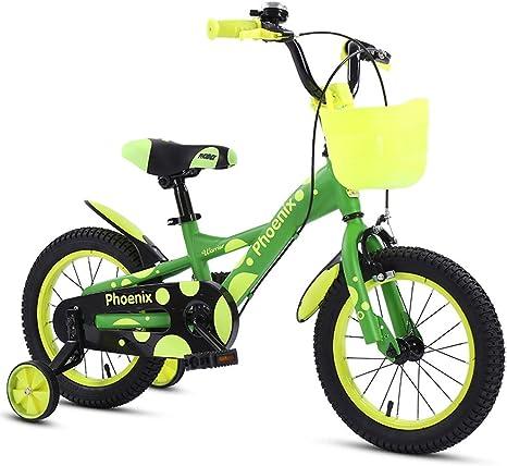 TSDS Bicicleta Infantil Bicicleta de Moda Bicicleta Verde/Naranja ...