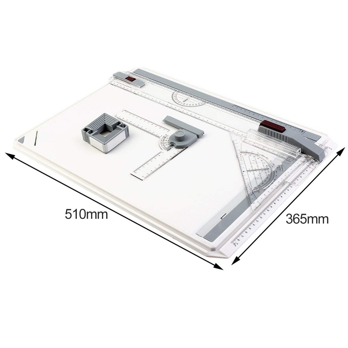 Transparent Portable A3 Drawing Board Table with Parallel Motion Adjustable Angle Draftsman Art Painting Drawing Tools Palette