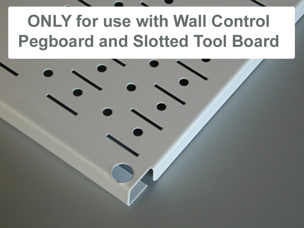 Wall Control ASM-SH-1612 B 12'' Deep Pegboard Shelf Assembly for Wall Control Pegboard Only, Black