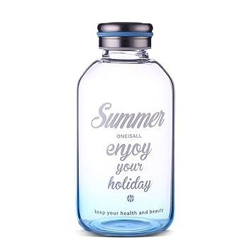 Botella de agua potable de vidrio de 600 ml GYBL189, de cambio gradual, de