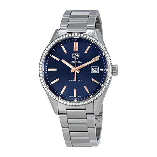 TAG Heuer Carrera esfera azul reloj de pulsera para mujer war1114. ba0601: Amazon.es: Relojes