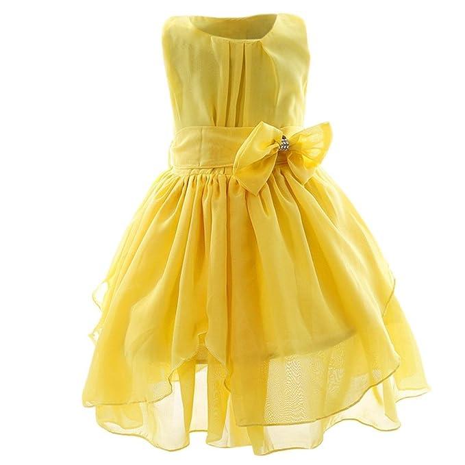 DRESS_start Vestido Elegante de Princesa Vestido Fiesta para Niña Vestido Infantil Flor Boda Niña: Amazon.es: Ropa y accesorios