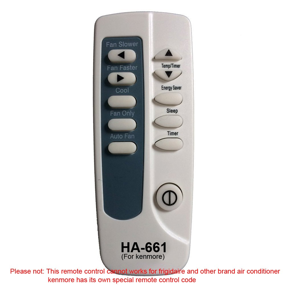 HA-661 Replaces kenmore Air Conditioner Remote Control 5304495027 works for 253.76180 253.76180312 253.76180410 253.76180411 253.76250 253.76250312 253.76250410 253.76250411