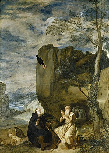 [Oil Painting 'Velazquez Diego Rodriguez De Silva Y Saint Anthony The Abbot And Saint Paul The First Hermit Ca. 1634 ' Printing On High Quality Polyster Canvas , 20 X 28 Inch / 51 X 71 Cm ,the Best Home Office Decor And Home Artwork And Gifts Is This Reproductions Art Decorative Canvas Prints] (Anthony Logistics Shampoo)